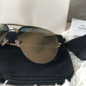 439d30a315 Celine Accessories - Céline Gold Bronze Mirror Pilot Aviator 41391S J5G